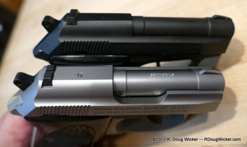 What's the difference between the wide and thin version of the Beretta Tomcat 3032?