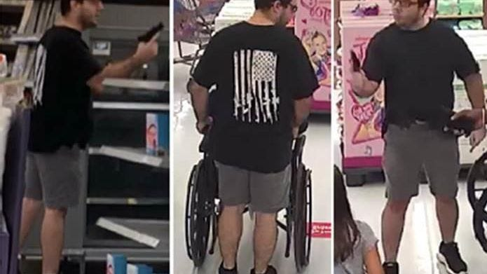 Man arrested after pulling gun in mask argument at Florida Walmart