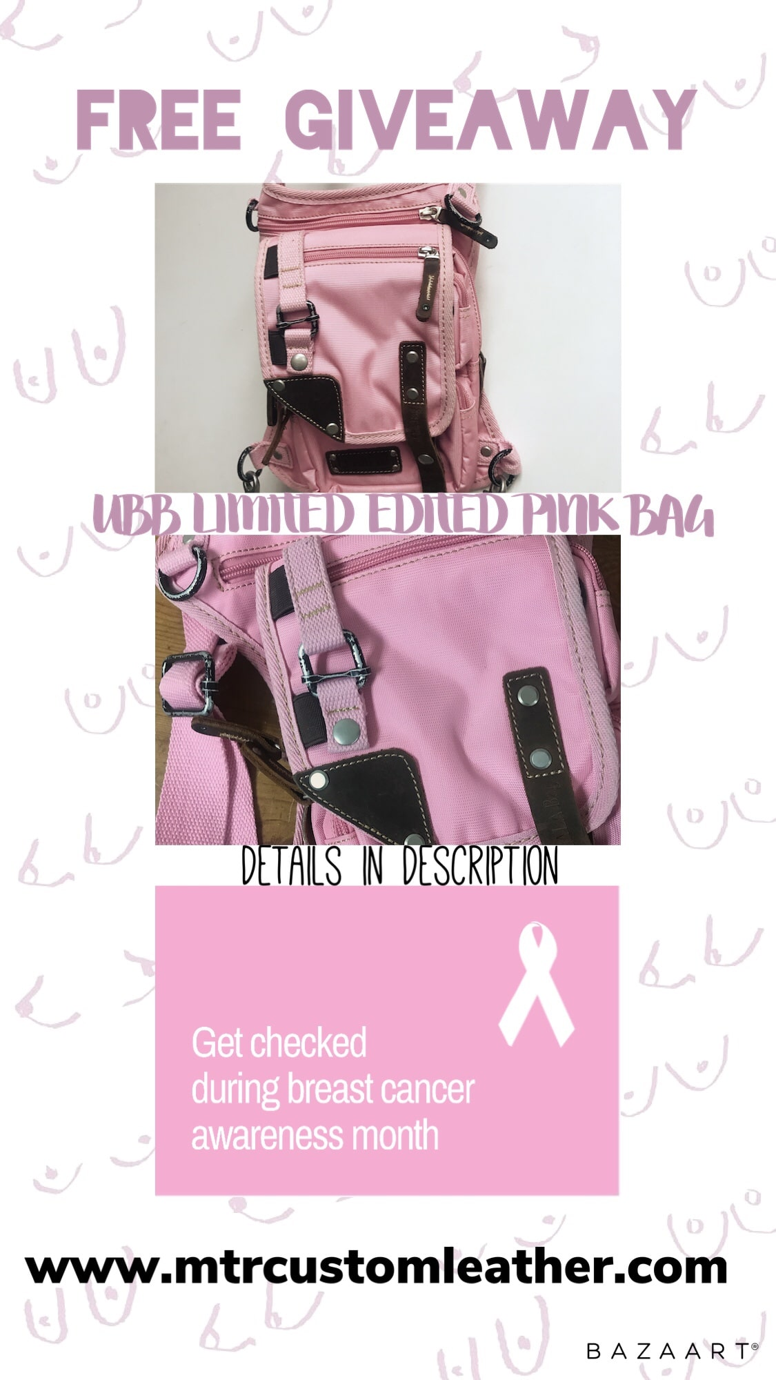 MTR Custom Leather October FREE GIVEAWAY FOR A PINK UBB Bag