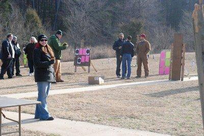 Christians at a shooting range
